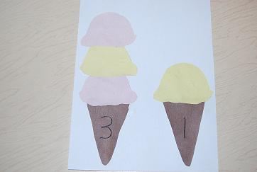 Ice Cream Cones for Literacy or Math