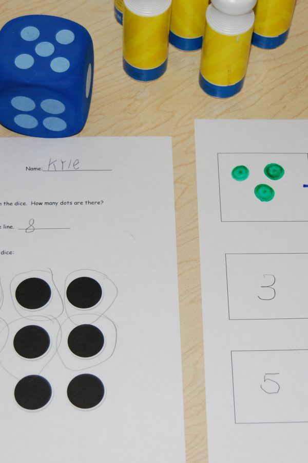 Dominoes and Dice for Math in Preschool & Kindergarten!