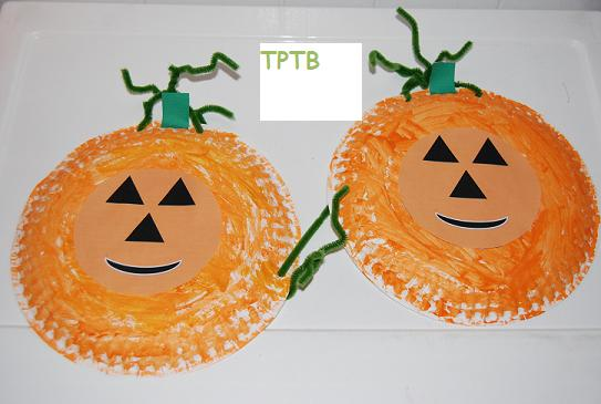 Pumpkin Art for Preschool or Kindergarten