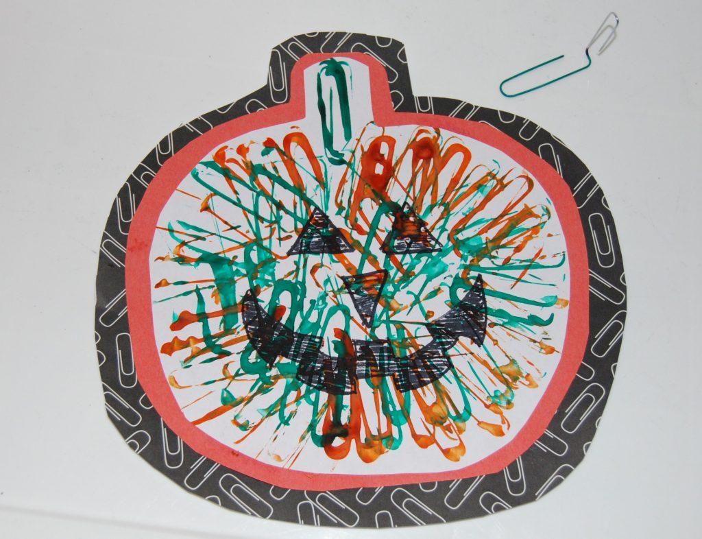 Paper Clip Painted Jack-0-Lantern