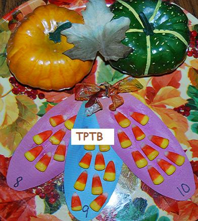 Candy Corn Cob Math, Fingerprint Thankful Notes, and Sensory Turkeys