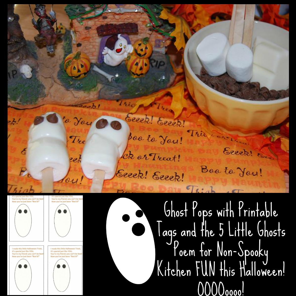 Marshmallow Ghosts Pops for Kids