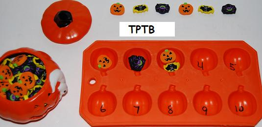 Halloween Counting, Sensory Sorting, and Flavored Pumpkin Seeds!