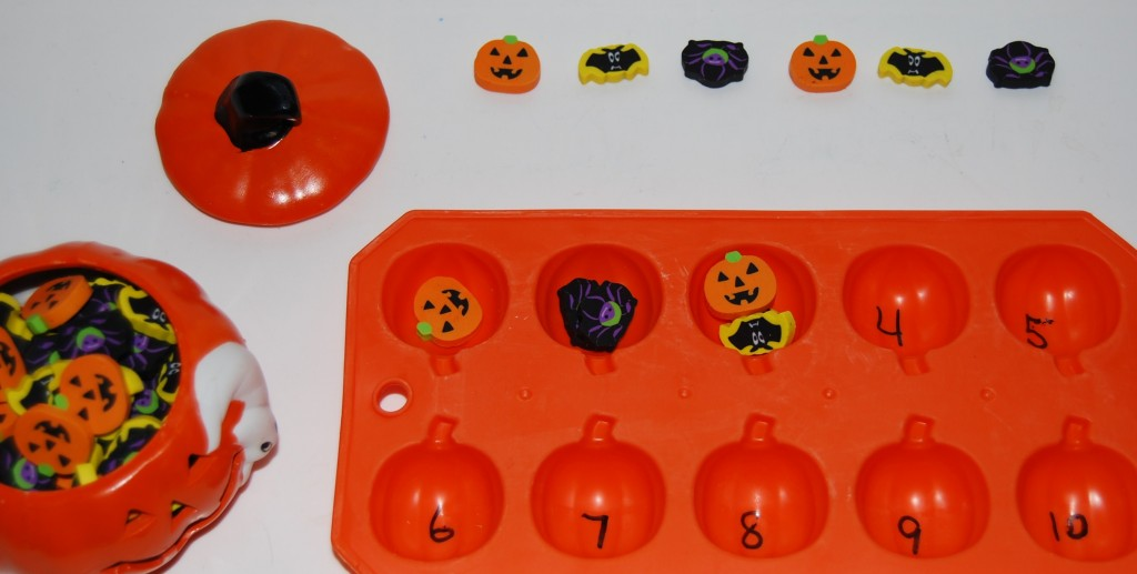 Halloween Eraser Sorting