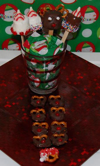 Santa and Reindeer Pretzels