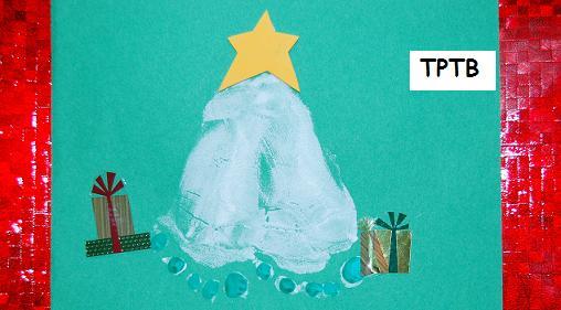 Footprint christmas tree the preschool toolbox blog for Christmas tree arts and crafts