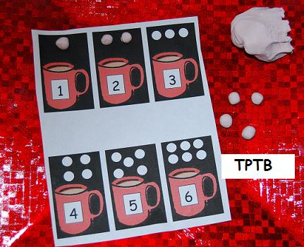 Cocoa Cups and Marshmallows Play Dough Mats: Christmas Theme Play ...