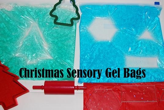 Christmas Sensory Gel Bags