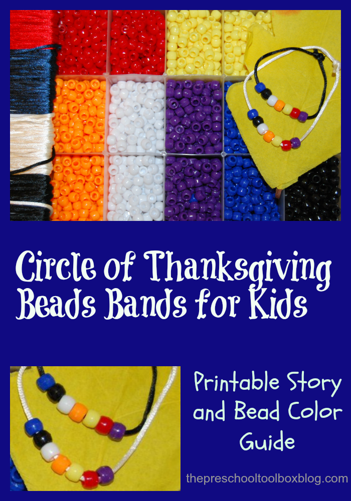 Circle of Thanksgiving Bracelet Craft for Kids