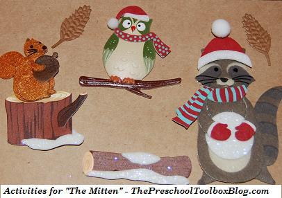 extension activities for the mitten by jan brett preschool