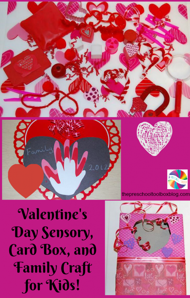 create special moments this valentines day with a sensory mat valentines day card box craft and a treasured family hand print craft preschoolers can