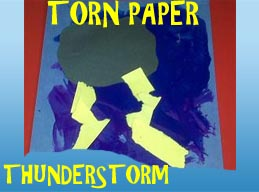 Torn Paper Thunderstorm Craft for Preschool and Kindergarten