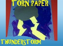 Torn Paper Thunderstorm Craft for Preschool and Kindergarten