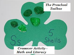 St patricks day crossover activity for preschool and kindergarten
