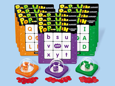 Lakeshore Learning's Pop and Win Alphabet Bingo Game Review