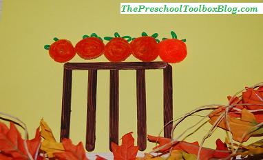 5 Little Pumpkins Craft, a Recipe, and Cookie Math for Preschool