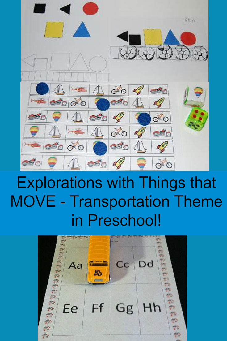 Transportation Theme Activities for Preschool and Kindergarten