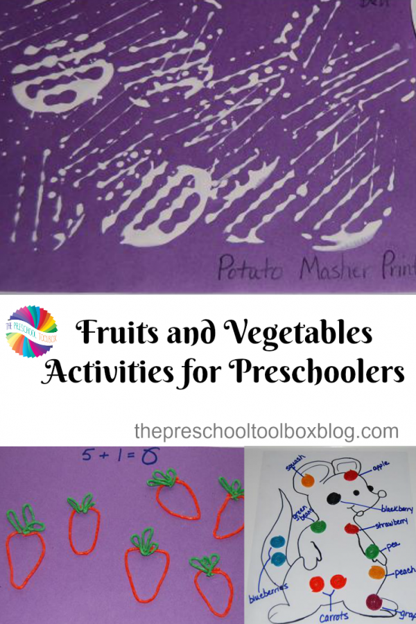 Fruits & Vegetables Playful Learning Activities for #Preschoolers!