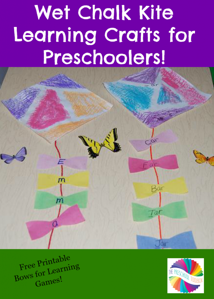 Wet Chalk Kite Crafts And Learning Games For Young Kids