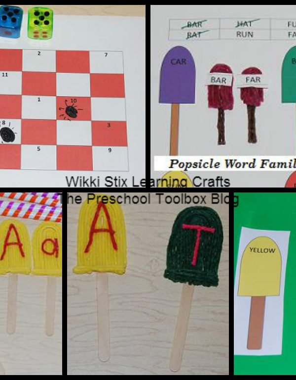#Wikkistix Popsicle Letters, Numbers, and Colors for #Backtoschool!