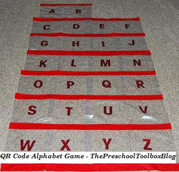 Printable A to Z Alphabet QR Code Game for Preschool