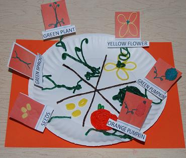 Paper Plate Pumpkin Life Cycle Craft
