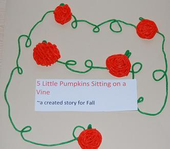 5 Little Pumpkins Sitting on a Vine – a created Storyboard Poem for Kids!