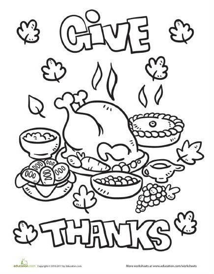 give thanks coloring pages - photo#14