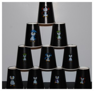 The Penguin and the Pinecone Stacking Cups