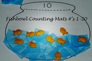 Fishbowl Math Mats to Create and Count