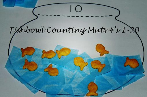 Fishbowl Counting Mats and Fishy Letters – Ocean Theme for ...