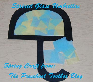 Spring Weather Theme for Preschool – Stained Glass Umbrellas & Sunshine Math