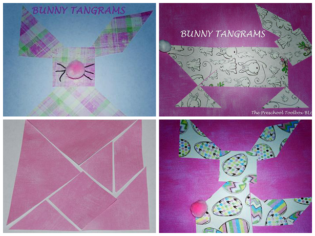 Bunny Tangram Collage