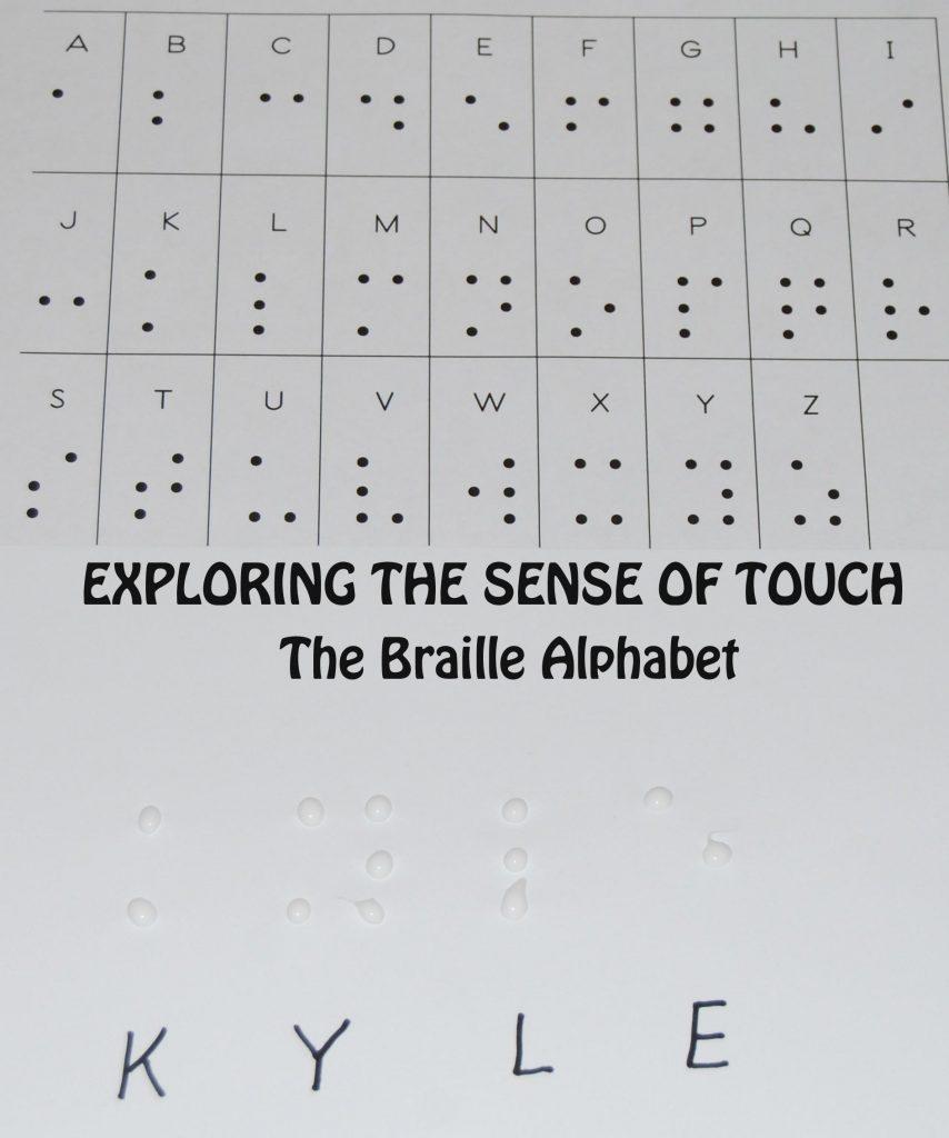 picture relating to Braille Alphabet Printable named 5 Senses: The Braille Alphabet within Preschool Kindergarten