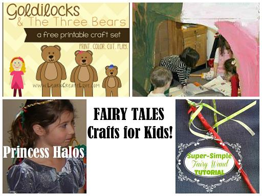 Fairy Tales Arts and Crafts Collage