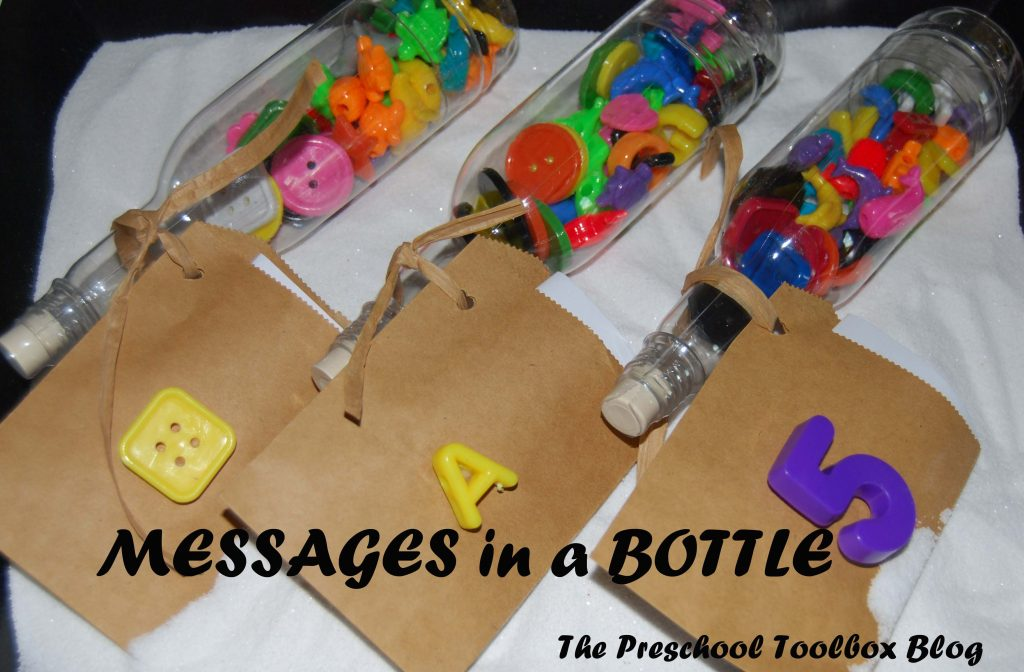 Ocean and beach theme activities message in a bottle for Educational crafts for preschoolers
