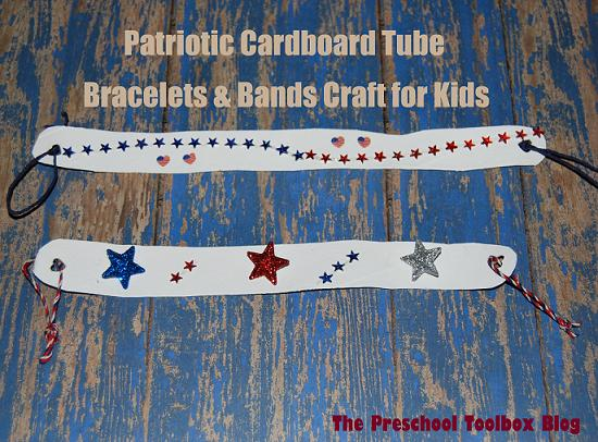 EASY Patriotic Cardboard Tube Bracelet or Band Craft for Kids!