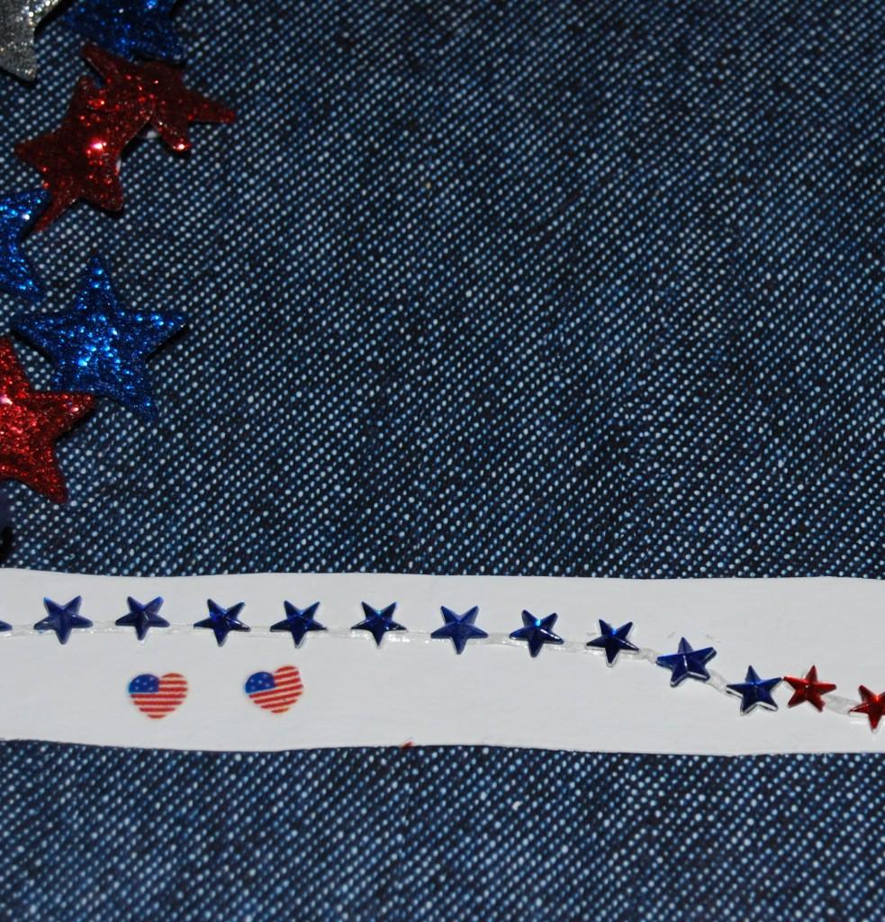 Patriotic Cardboard Tube Bracelets and Bands 009