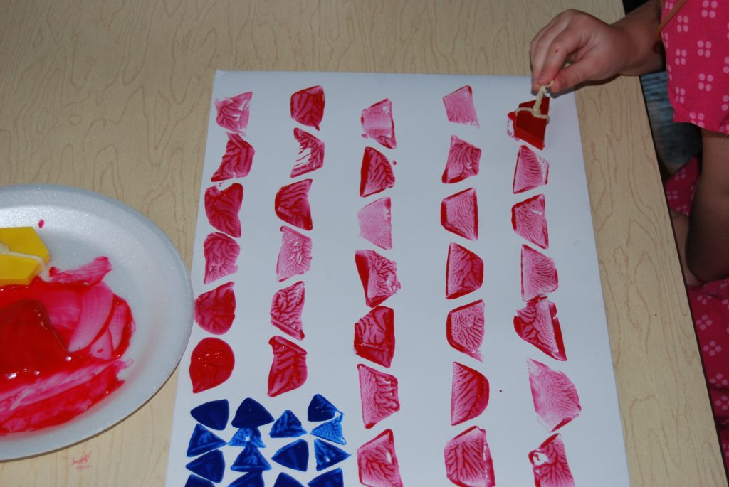 Pattern Block Painted Flags 005