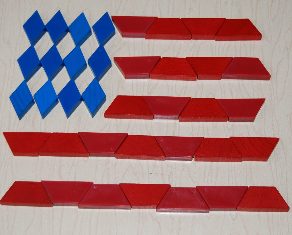 Pattern Block Painted Flags 006
