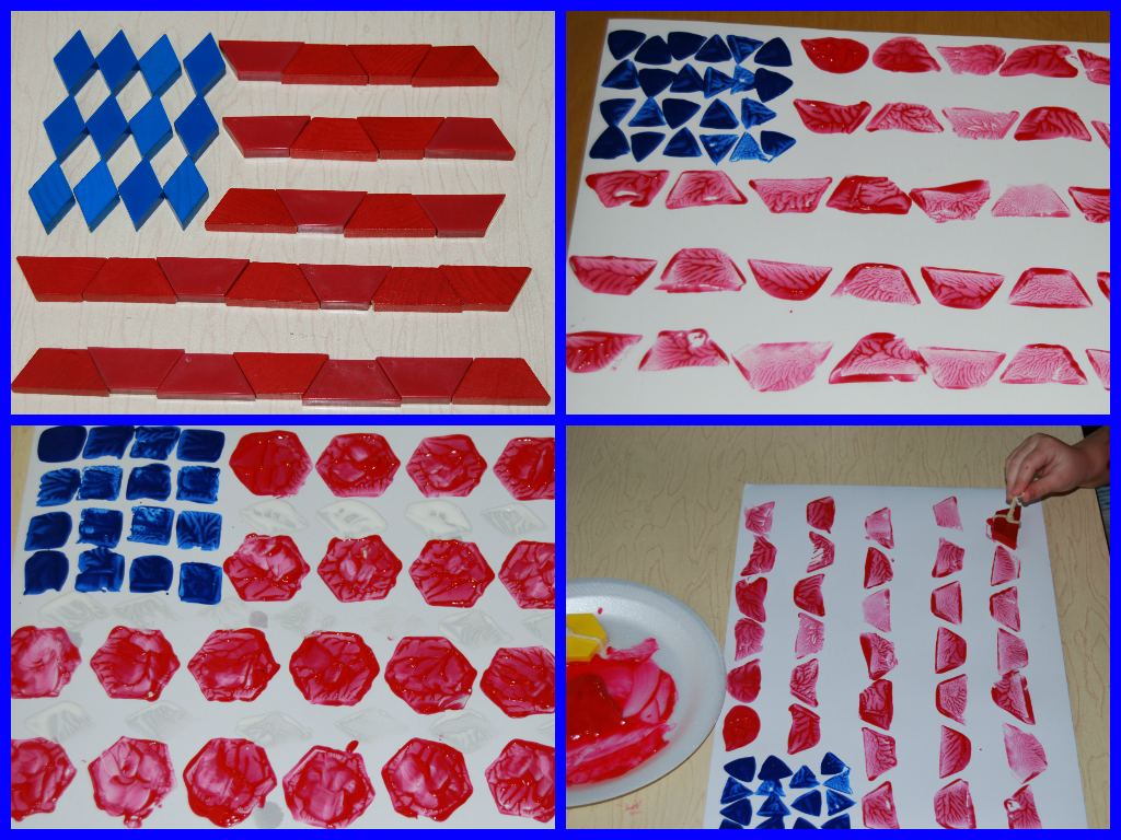 Pattern Block Flag Printing and Design