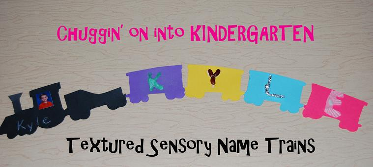 Transportation Theme Textured Name Trains for Preschool and Kindergarten