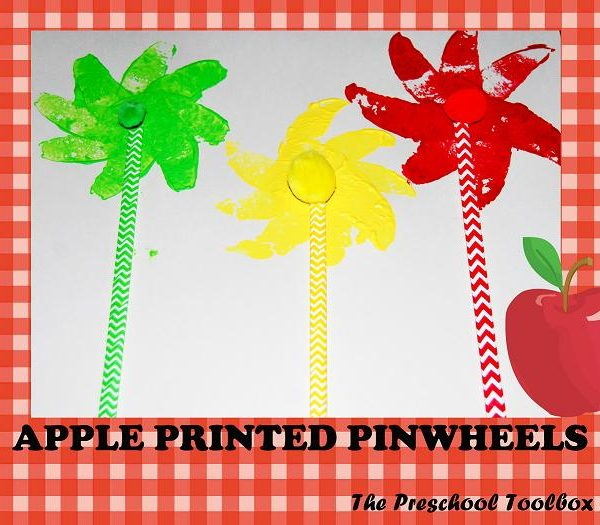 Apple Prints Pinwheel Craft for Preschool & Kindergarten