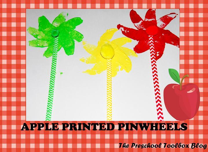 Apple Printed Pinwheels Craft for Preschool & Kindergarten