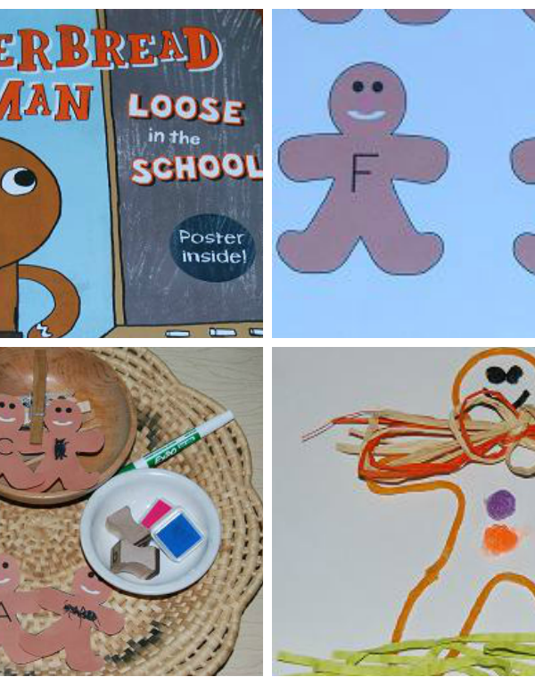 Preschool Activities for The Gingerbread Man Loose in the School!