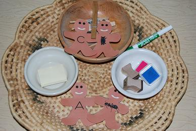 Gingerbread Literacy Tray for Preschool