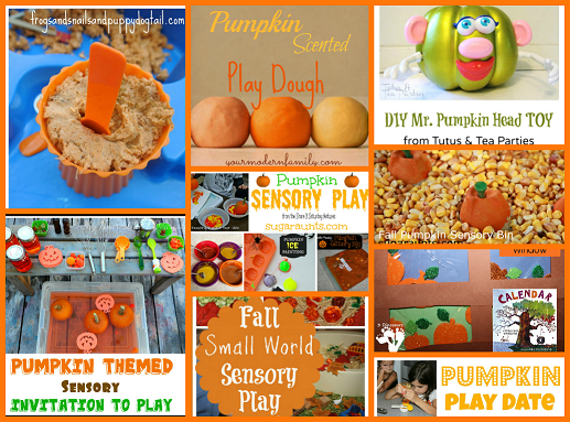 Pumpkin Sensory and Play Activities for Preschool