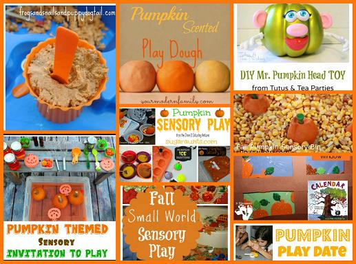 Pumpkin Sensory and Play Activities for Preschool