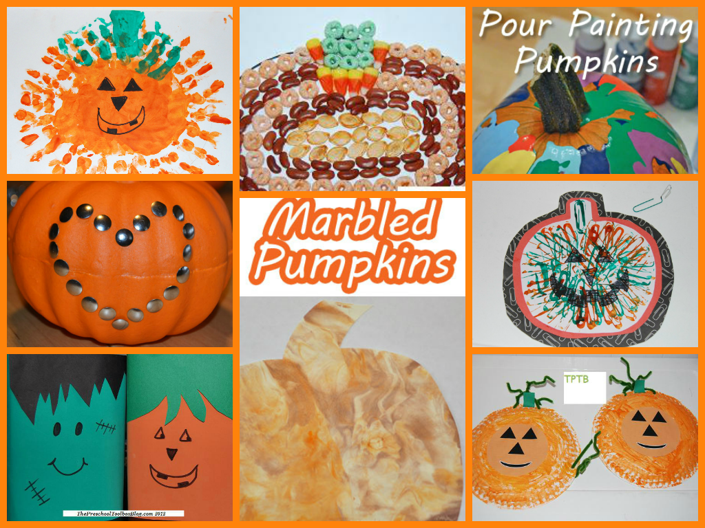 Fall and pumpkin crafts for preschool the preschool for Fall arts and crafts for preschoolers