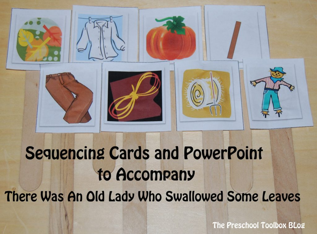 There Was An Old Lady Who Swallowed Some Leaves PowerPoint